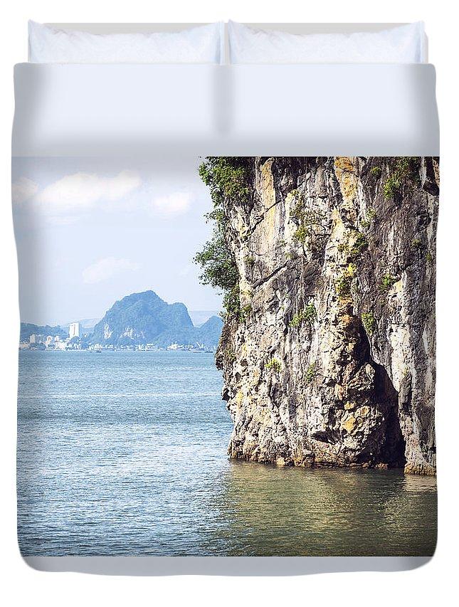 Halong Duvet Cover featuring the photograph Picturesque Sea Landscape. Ha Long Bay, Vietnam by Eduardo Huelin