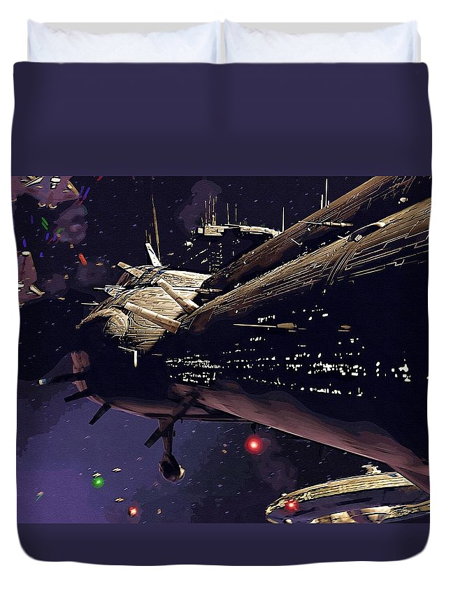 Star Wars Sith Duvet Cover featuring the digital art Star Wars Episode Art by Larry Jones