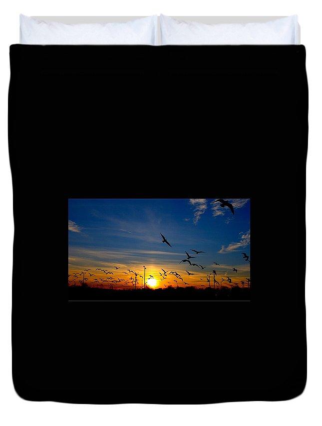 Sunset Duvet Cover featuring the digital art Sunset by Bert Mailer