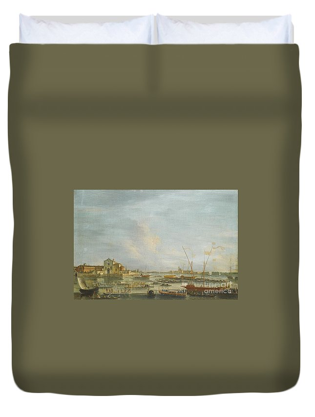 Francesco Tironi Venice Duvet Cover featuring the painting Venice by Celestial Images