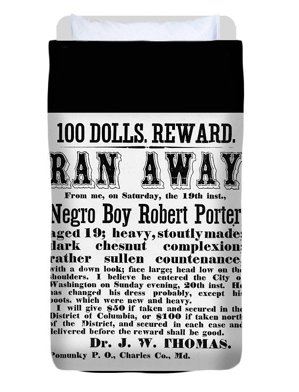 Black Americana Duvet Cover featuring the digital art 100 Dolls. Reward Ran Away by ReInVintaged