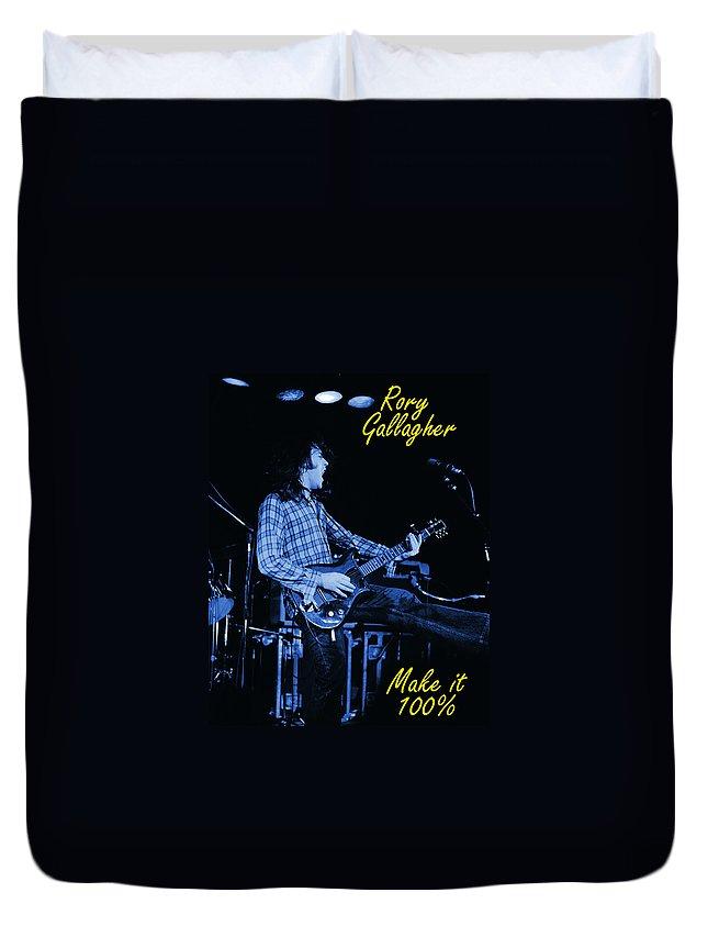 Rock Musicians Duvet Cover featuring the photograph 100 Percent Bullfrog Blues by Ben Upham