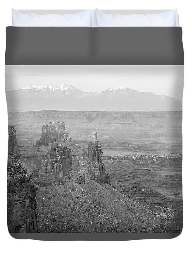 Park Duvet Cover featuring the photograph Canyonlands National Park Utah by Alex Grichenko