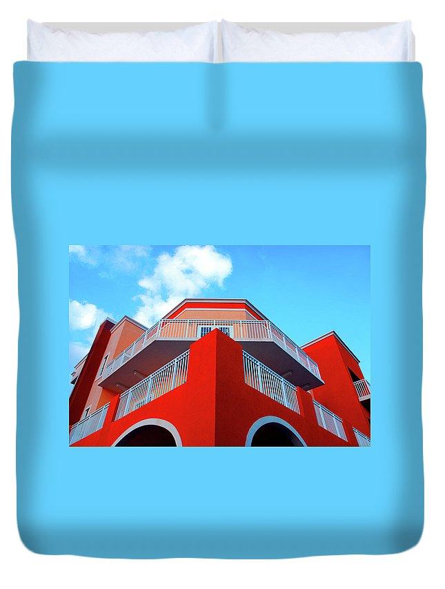 Building Duvet Cover featuring the photograph 11- Deco Sky by Joseph Keane