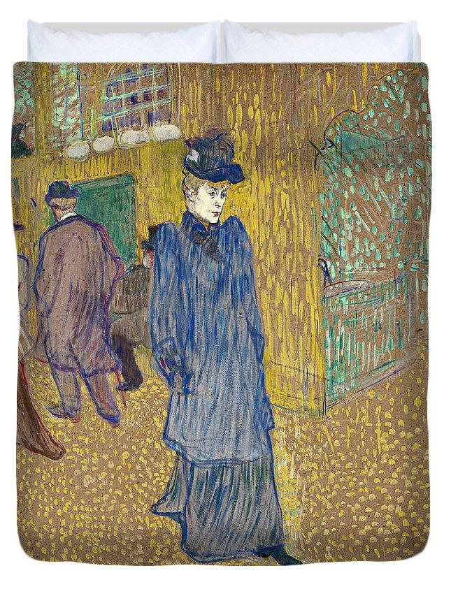 Girl Duvet Cover featuring the painting Lautrec by Henri De Toulouse