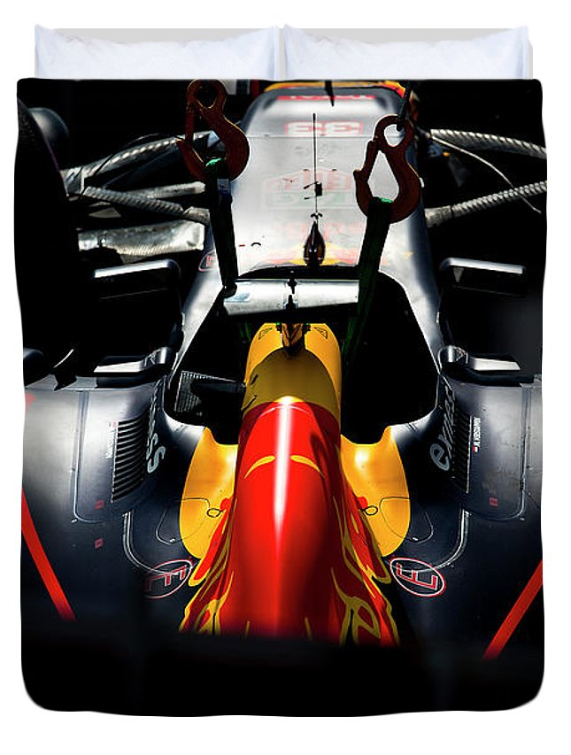 Monaco Duvet Cover featuring the photograph Red Bull Formula 1 by Srdjan Petrovic
