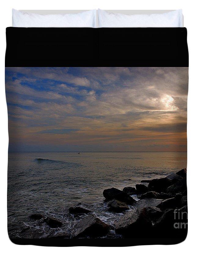 Sunrise Duvet Cover featuring the photograph 11- Singer Island by Joseph Keane