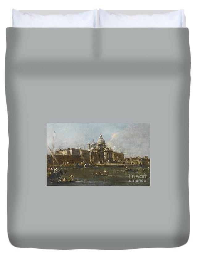 Francesco Guardi Venice Duvet Cover featuring the painting Venice by Celestial Images