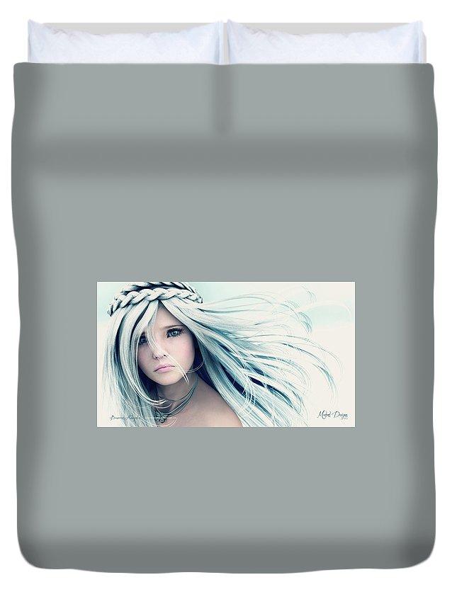 Women Duvet Cover featuring the digital art Women by Bert Mailer