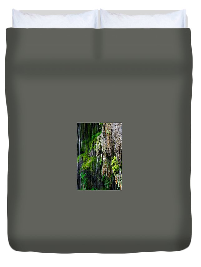 James Smullins Duvet Cover featuring the photograph Gormon Falls Colorado Bend State Park. by James Smullins