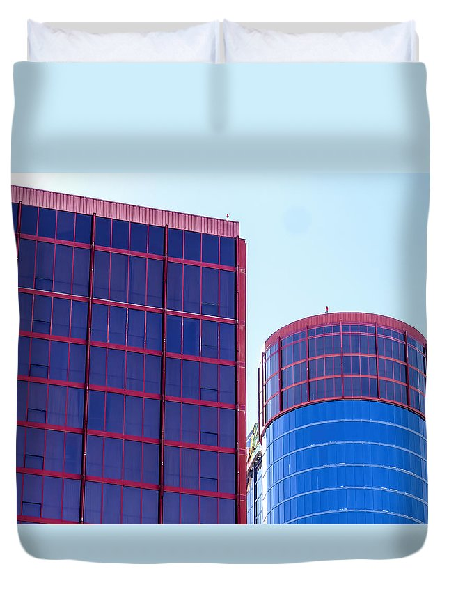 Architecture Duvet Cover featuring the photograph Rio Red And Blue by Kenneth Grant