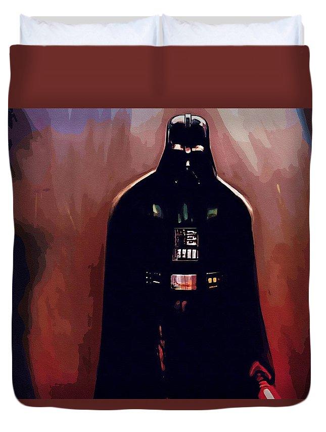 Star Wars Trooper Duvet Cover featuring the digital art Star Wars Episode 5 Poster by Larry Jones