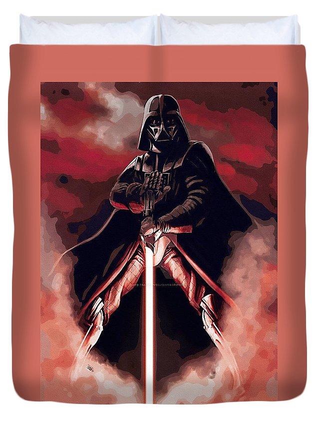 Skywalker Star Wars Duvet Cover featuring the digital art Star Wars Heroes Art by Larry Jones
