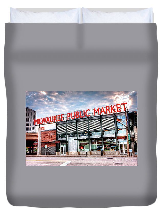 Milwaukee Duvet Cover featuring the photograph 1275 Milwaukee Public Market by Steve Sturgill