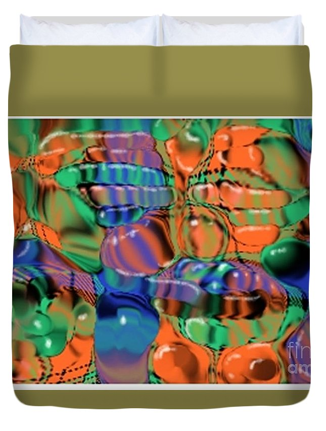 Abstract Duvet Cover featuring the digital art 1297exp1 by Ron Bissett