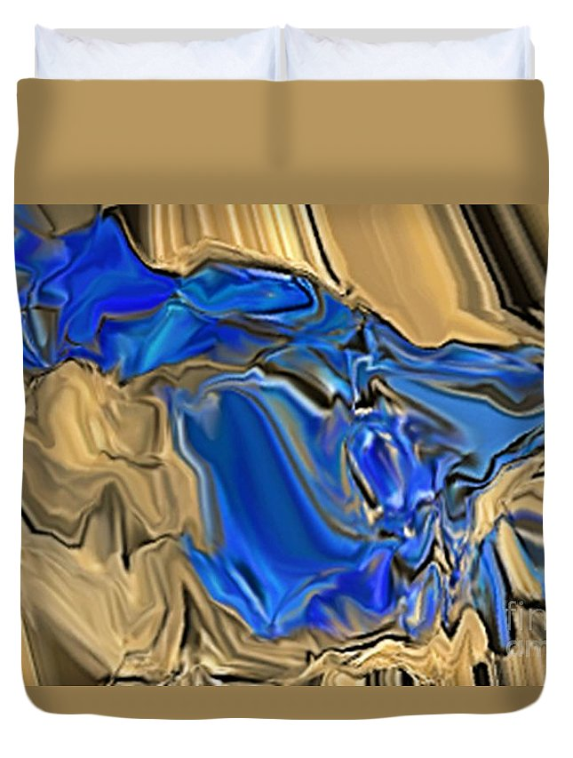 Abstract Duvet Cover featuring the digital art 1297exp6 by Ron Bissett