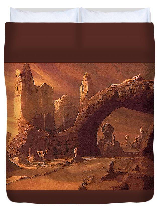 Star Wars Vader Duvet Cover featuring the digital art A Star Wars Art by Larry Jones