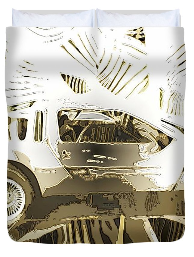 Duvet Cover featuring the digital art Cards by John P Earls