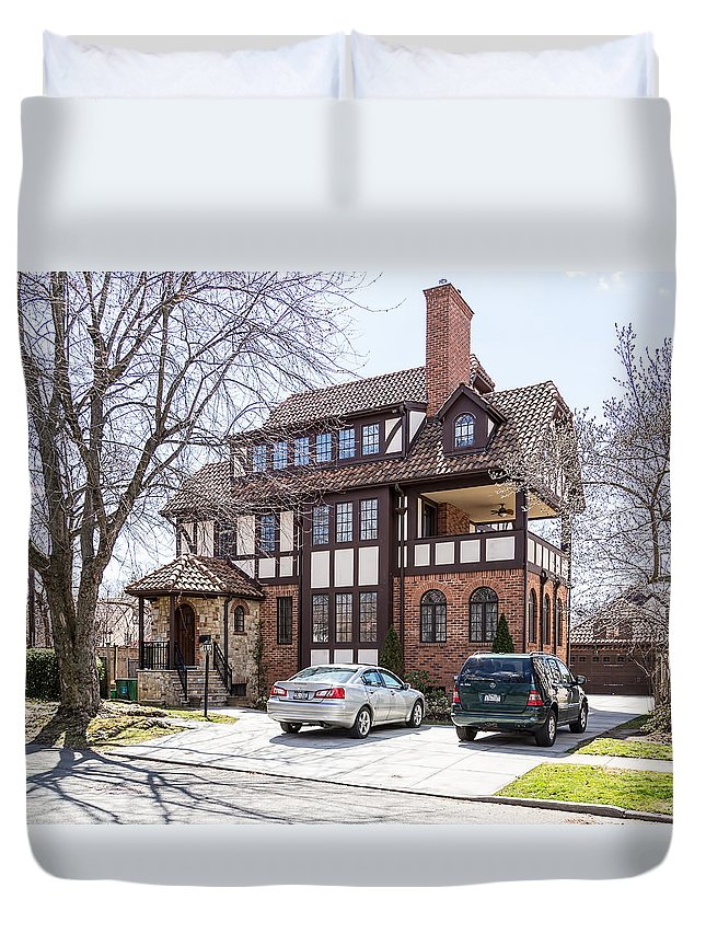 Forest Hills Duvet Cover featuring the photograph Forest Hills Gardens by Kenneth Grant