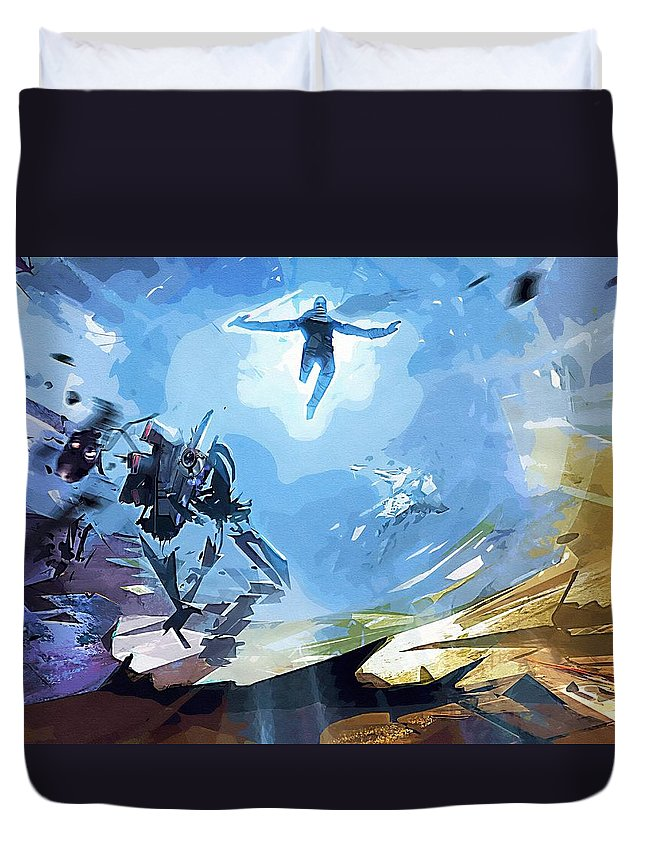 Star Wars Boba Fett Duvet Cover featuring the digital art Star Wars Characters Art by Larry Jones