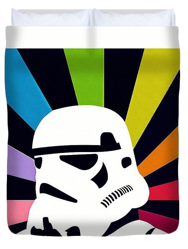 Star Wars Darth Vader Duvet Cover featuring the digital art Star Wars Episode 2 Art by Larry Jones