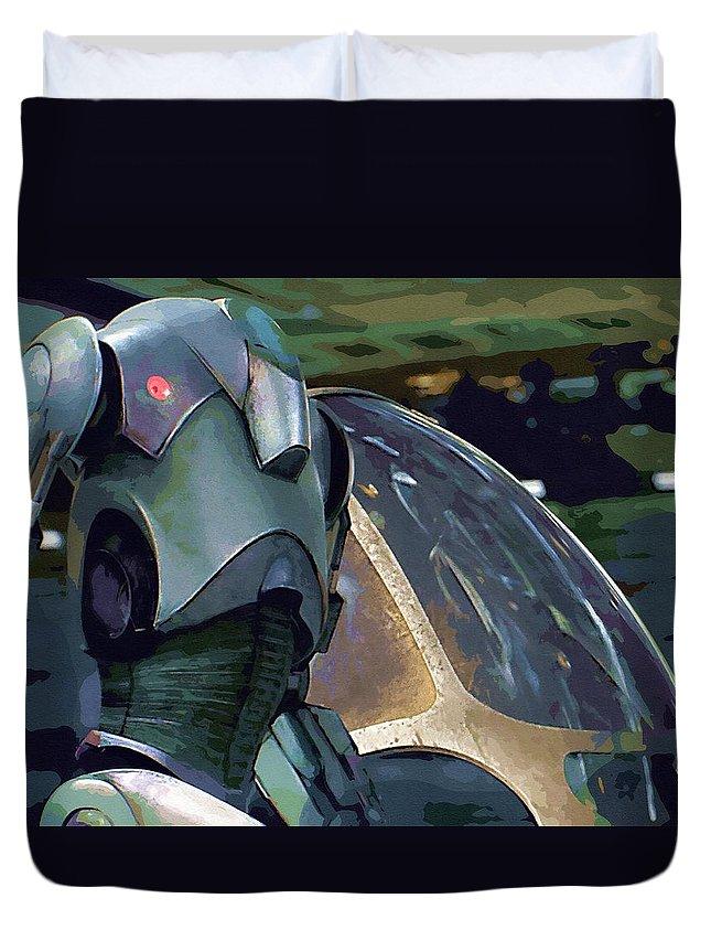 Star Wars Series Duvet Cover featuring the digital art Star Wars The Art by Larry Jones