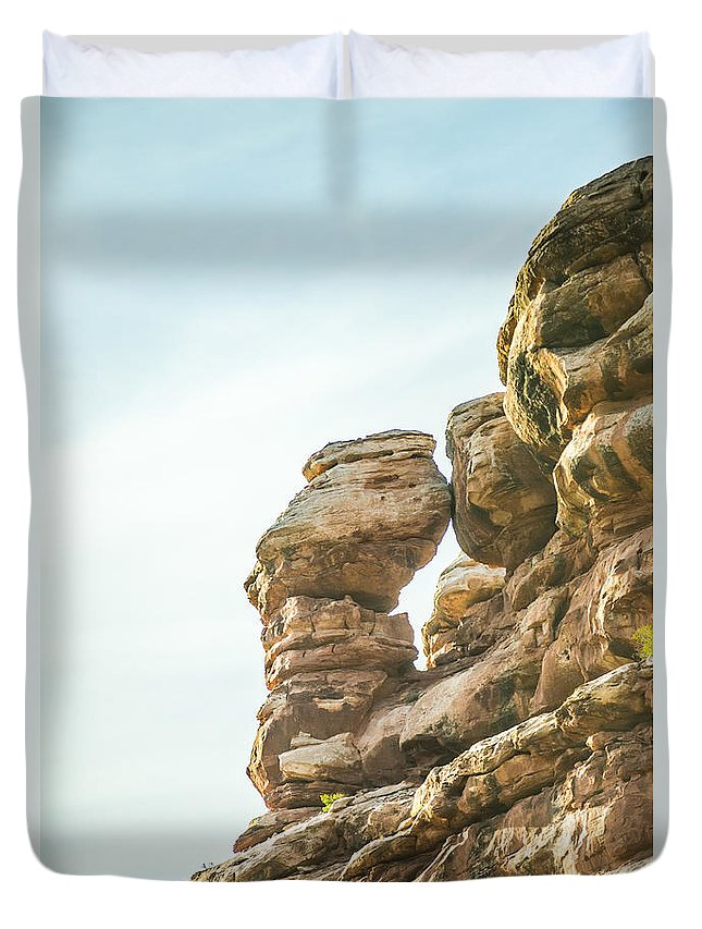 Park Duvet Cover featuring the photograph Arches National Park Moab Utah Usa by Alex Grichenko