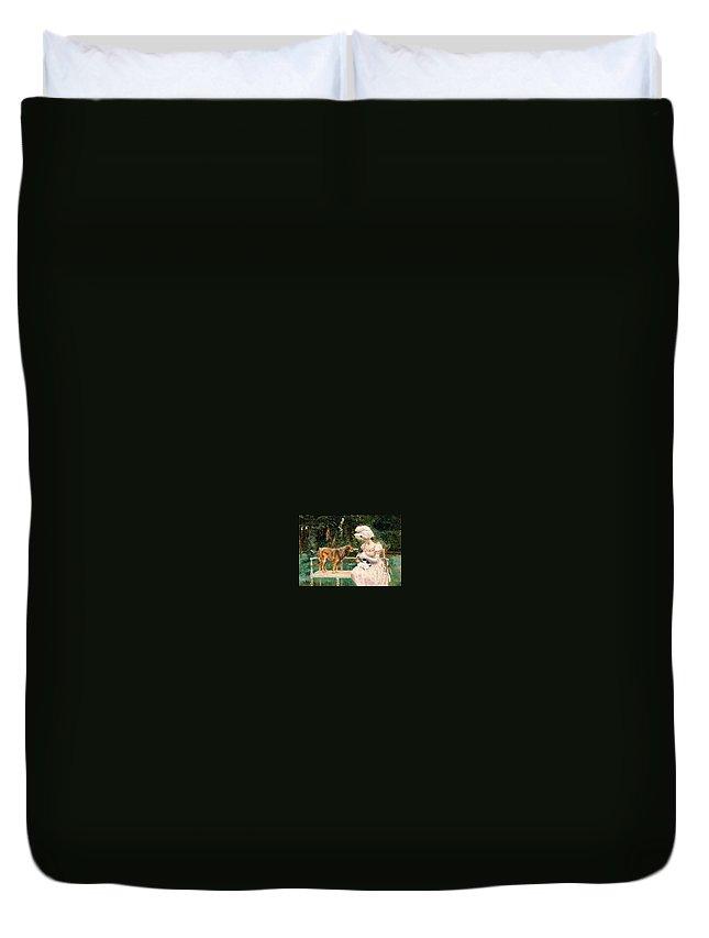 Terrier Duvet Cover featuring the digital art Charles Henry Tenre by Eloisa Mannion