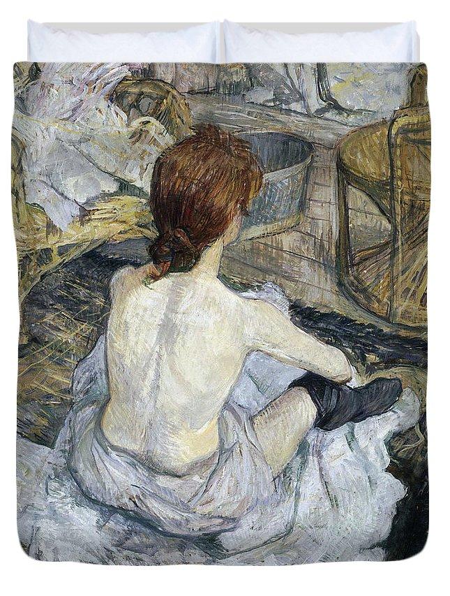 Gold Duvet Cover featuring the painting Lautrec by Henri De Toulouse