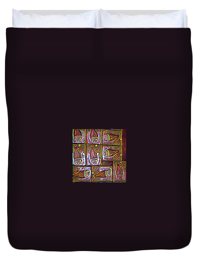Duvet Cover featuring the digital art Ode To Dean by Melinda Sullivan Image and Design