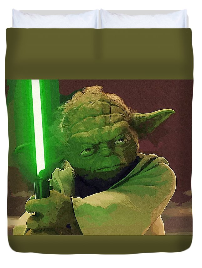 Star Wars Knights Old Republic Duvet Cover featuring the digital art Star Wars Movie Poster by Larry Jones