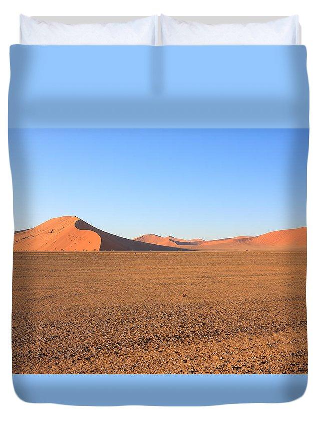 Kalahari Duvet Cover featuring the photograph Sossusvlei Dunes by Davide Guidolin
