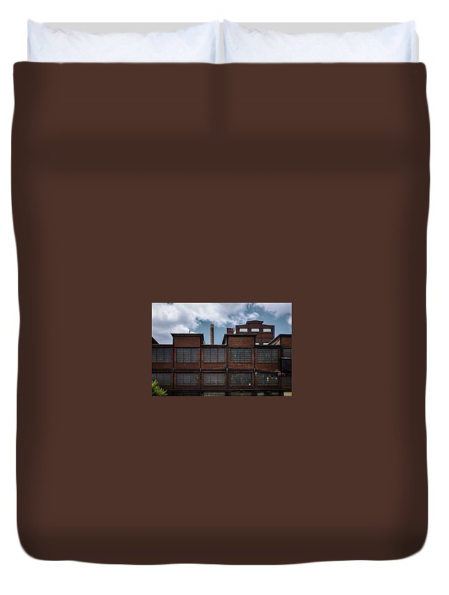 Factory Duvet Cover featuring the photograph Untitled by Megan Yohn