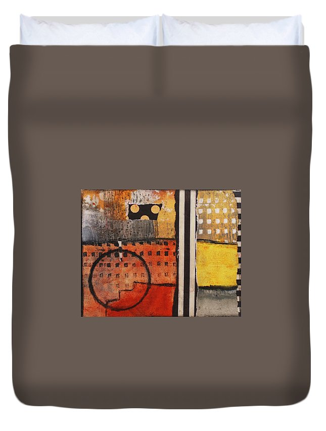 Acrylic Paint Duvet Cover featuring the mixed media Untitled by William Hartill