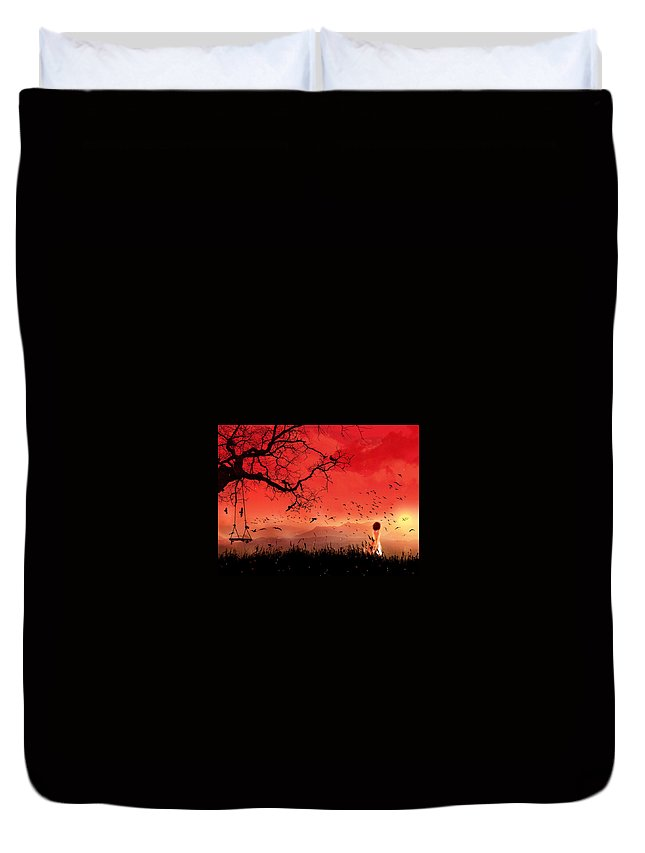 Artistic Duvet Cover featuring the digital art Artistic by Dorothy Binder