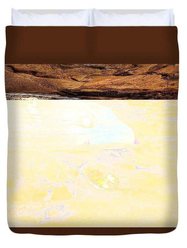 Great Saltpetre Cave Duvet Cover featuring the photograph Great Saltpetre Cave by Phill Dobbs