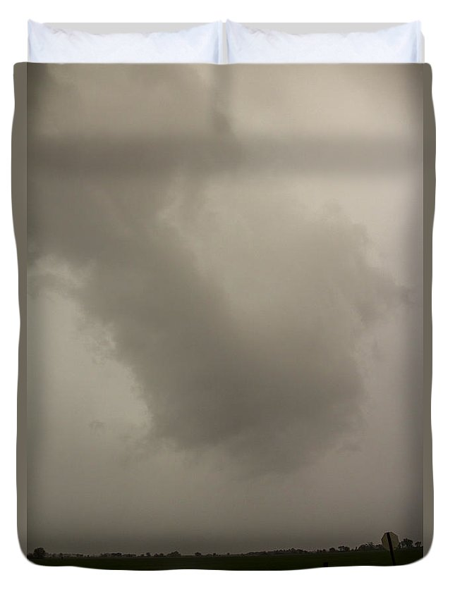Nebraskasc Duvet Cover featuring the photograph 6th Storm Chase 2015 by NebraskaSC