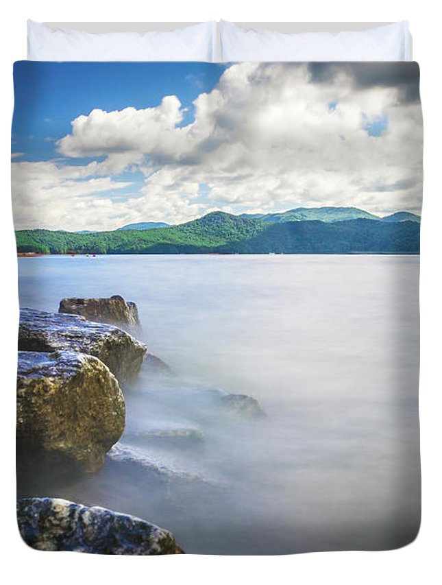 Beautiful Duvet Cover featuring the photograph Beautiful Landscape Scenes At Lake Jocassee South Carolina by Alex Grichenko