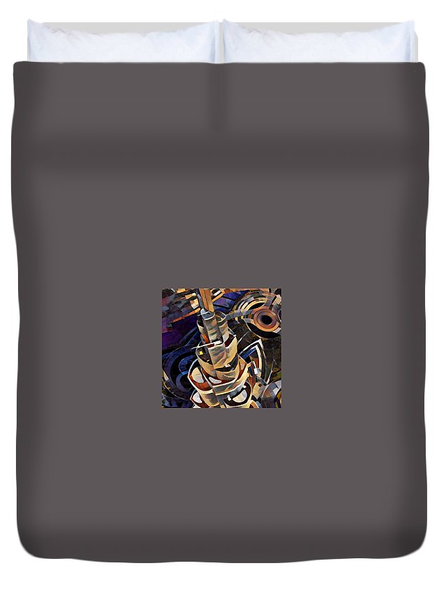 Duvet Cover featuring the digital art Burj Khalifa by Melinda Sullivan Image and Design