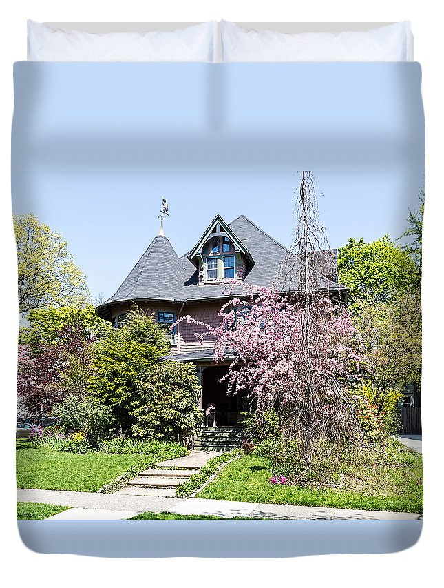 1899-1915 Duvet Cover featuring the photograph Prospect Park South Historic District by Kenneth Grant