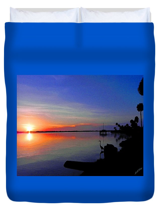 Wgilroy Duvet Cover featuring the photograph Sunrise / Sunset / Indian River by MGilroy