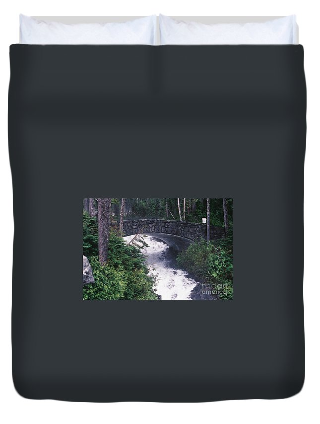 Bridges Duvet Cover featuring the photograph Untitled by John Huntsman