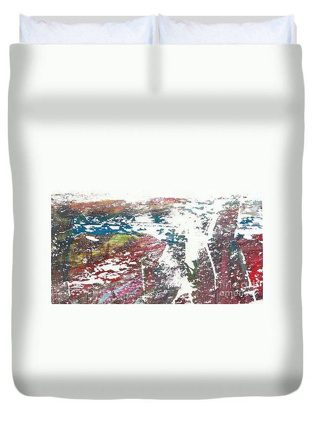 Art Digital Paintings Acrylic Duvet Cover featuring the digital art Abstract by Tza Tzart