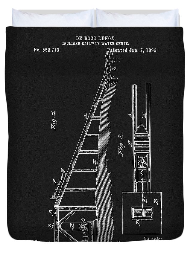 1896 Water Roller Coaster Duvet Cover featuring the mixed media 1896 Water Roller Coaster by Dan Sproul