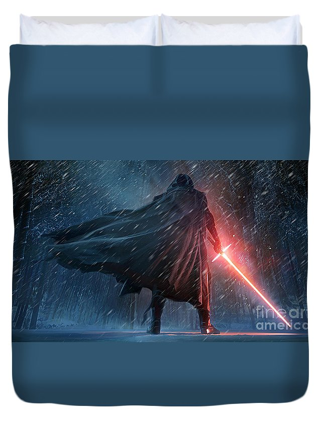 Duvet Cover featuring the photograph The Force Awakens by Star Wars