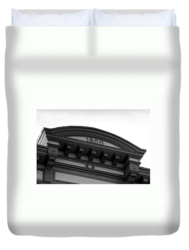 1900.architecture Duvet Cover featuring the photograph 1900 by David Lee Thompson