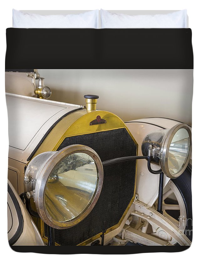 1913 Duvet Cover featuring the photograph 1913 Stevens-duryea Automobile by John MacLean