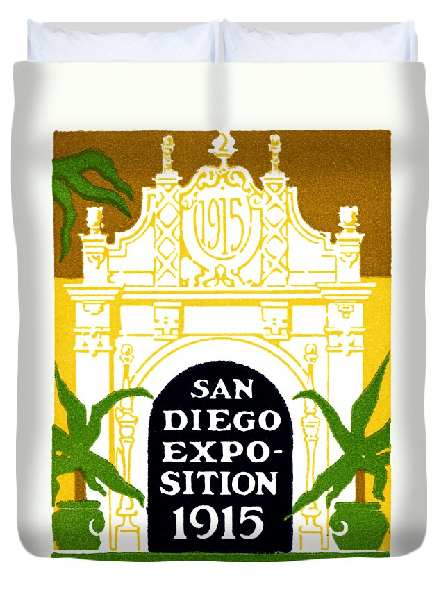 Historicimage Duvet Cover featuring the painting 1915 San Diego Expo Poster 3 by Historic Image