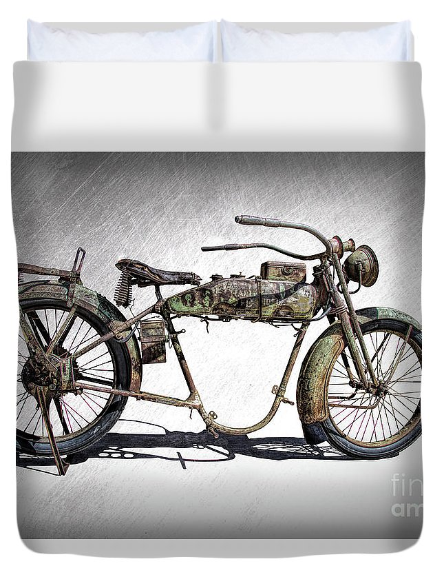 1918 Harley Davidson Motorcycle Frame Duvet Cover for Sale by Nick Gray