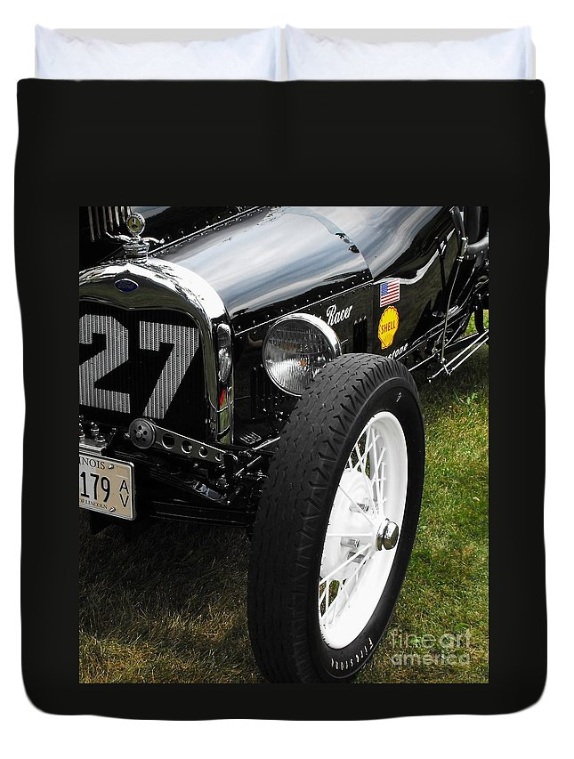 Ford Duvet Cover featuring the photograph 1920-1930 Ford Racer by Neil Zimmerman